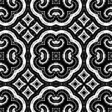 Black and white pattern - possible for curtain, fabric, table-cloth Stock Photos