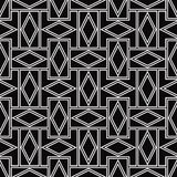 Black and white pattern of rhombuses. Royalty Free Stock Photos