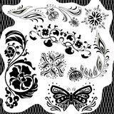 Black and white pattern. Set Stock Photos