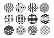 Black and white pattern set Stock Image