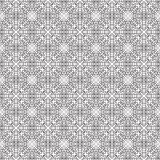Black and white pattern with small hearts. Black ornate pattern on a white background with small red hearts Royalty Free Illustration