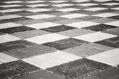 Black and white pattern of urban pavement Royalty Free Stock Images