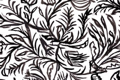 Black and white pattern. watercolor background. Royalty Free Stock Photo
