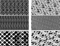 Black and White Patterns. Black and White Seamless Tiling Patterns - eps file avaiable Royalty Free Stock Image