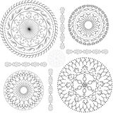 Black and white patterns. Circle royalty free illustration