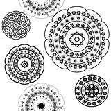 Black and white patterns Stock Photo
