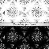 Black and white patterns. Seamless Royalty Free Stock Images