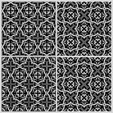 Black and white patterns 2. Black and white seamless patterns. Vector illustration Stock Photo