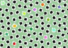 Black and white patterns, vector painted shapes, floral geometric seamless patterns, repeating brush strokes, flower decor. Vector spring flower Stock Image