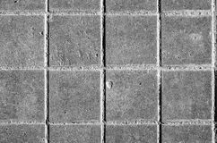 Black and white pavement slabs rattern Stock Photography