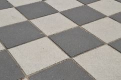 Black And White Pavement Stones.  Royalty Free Stock Image