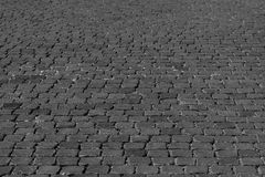 Black and white pavement texture Stock Images