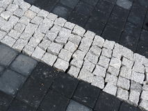 Black and white pavement Royalty Free Stock Photo