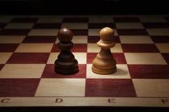 Black and White Pawn. Royalty Free Stock Photos