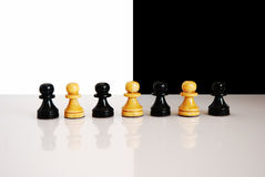 Black and white pawns Royalty Free Stock Photos