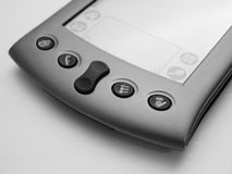 Black & White PDA. A clean shot of a pda in black and white Stock Image