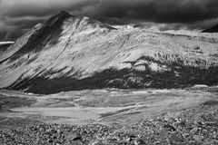 Black and white peak. Black and white picture of a mountaintop Stock Photography
