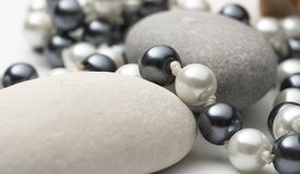 Black and white pearl Stock Photos