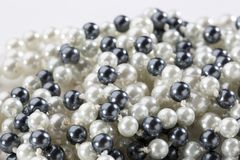 Black and white pearl Royalty Free Stock Photo