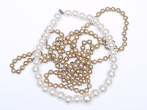 Black and white pearl beads Royalty Free Stock Photo