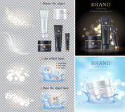 Black and White Pearl Cream illustrations Set Royalty Free Stock Photo