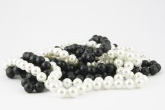 Black & white pearls Stock Photography
