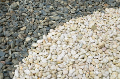 Black and white pebble background Royalty Free Stock Photo
