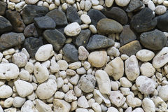 Black and white pebble stones. Stock Photography