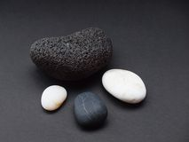 Black and white pebbles Stock Photo