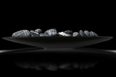 Black and White Pebbles - Zen Concept Royalty Free Stock Images