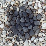 Pebbles in rock garden Royalty Free Stock Image