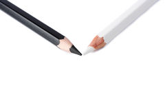 Black and white pencil isolated Royalty Free Stock Image