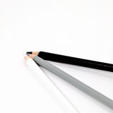 Black white pencil on white background isolated Royalty Free Stock Images