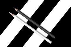Black and white  pencils Stock Photos