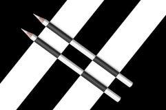 Black and white  pencils Stock Photo