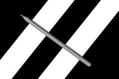 Black and white  pencils Stock Photography