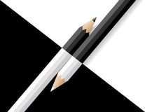 Black and white pencils Royalty Free Stock Image