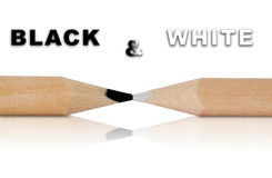 Black and white pens. Opposites attract (Pens isolated - path included Royalty Free Stock Photos