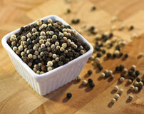 Black and white pepper Stock Image