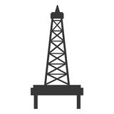 Black and white petro tower, vector graphic Royalty Free Stock Photography
