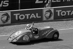 Black and white Peugeot 402 Royalty Free Stock Photography