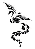 Black and White Phoenix Tribal Tattoo Royalty Free Stock Photos