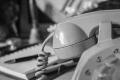 Black and white of phone. Royalty Free Stock Photo