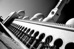 Abu Dhabi. A black and white photo of Abu Dhabi royalty free stock photography