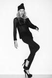 Black and white photo of beautiful model Royalty Free Stock Photo