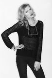 Black and white photo of beautiful model Stock Photo