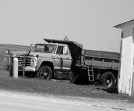 Black And White Dump Truck Royalty Free Stock Image
