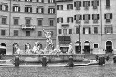 The Fountain of Neptune in the Square Navona. Rome. Italy. royalty free stock images