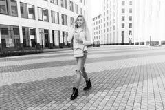 Black white photo of girl royalty free stock photos