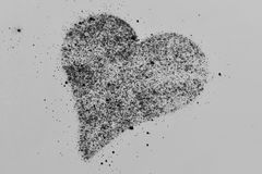 Heart Shape in Powder Royalty Free Stock Photos